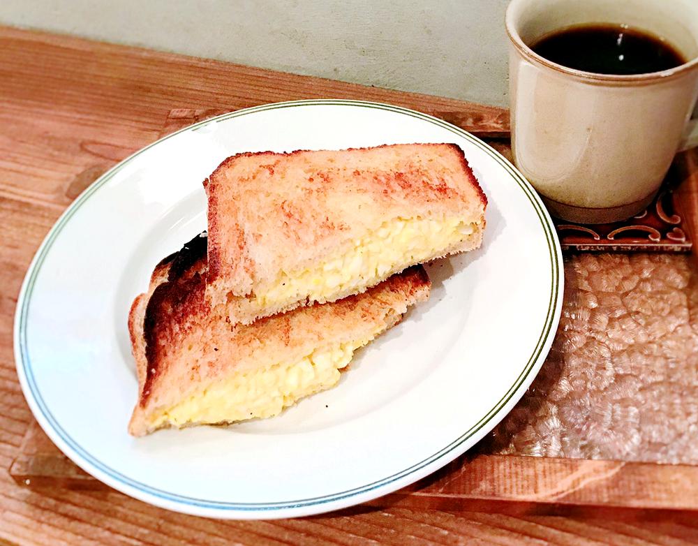 喫茶店のたまごトーストサンド