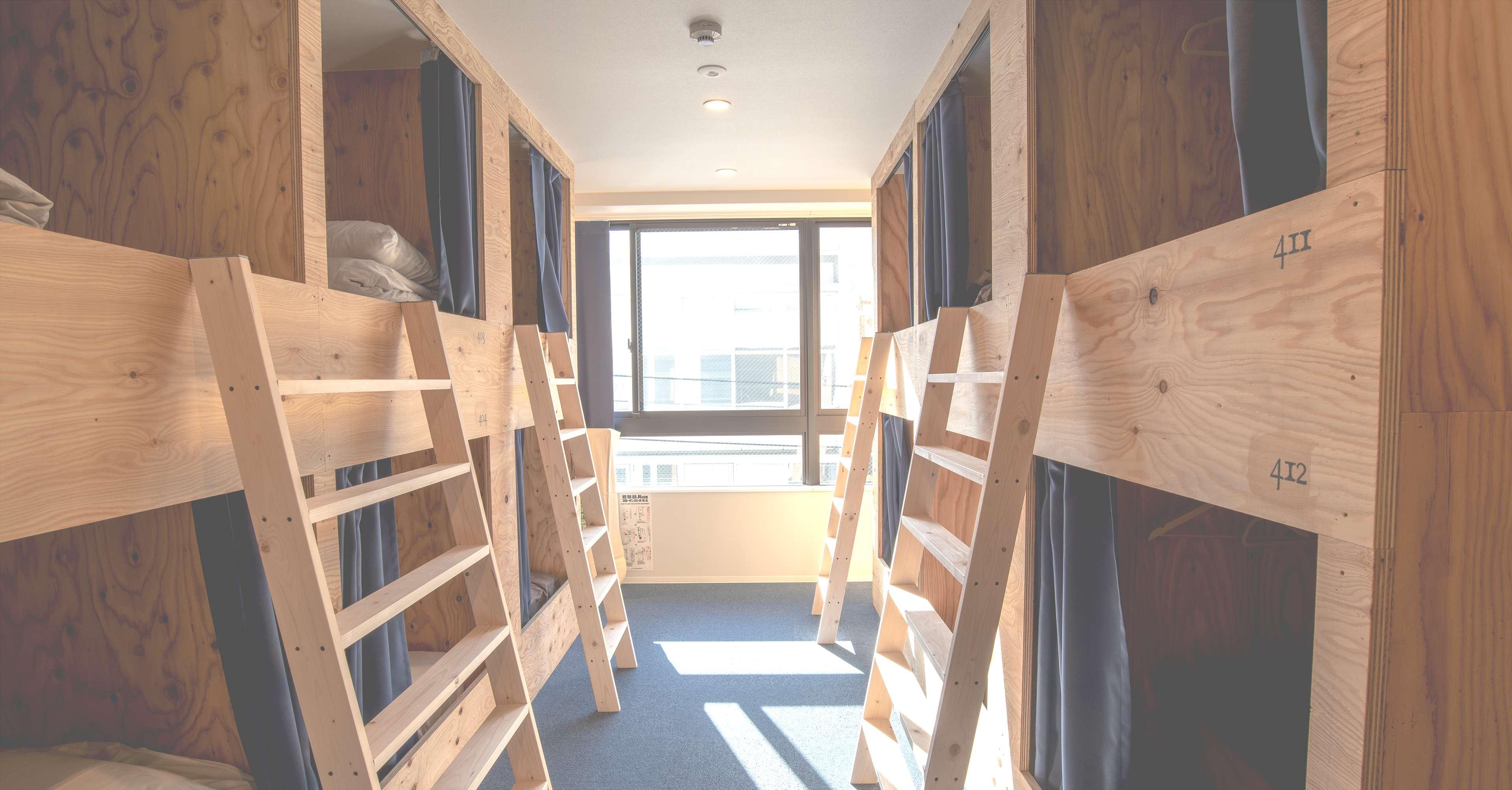 akicafe inn guesthouseのドミトリー寝室の画像