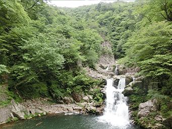 三段峡の滝